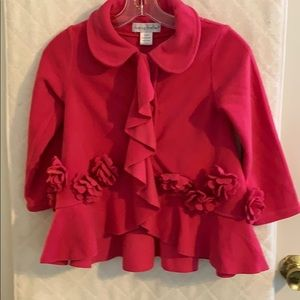 Chasing Fireflies girl' pink poly jacket size 6